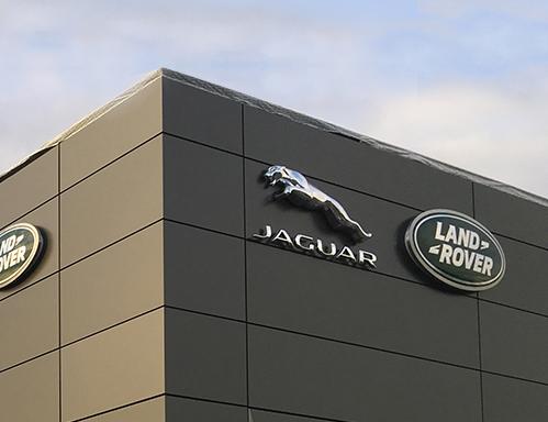 Fasadbeklädnad Jaguar Land rover