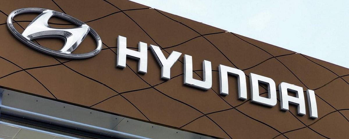 Fasadskylt Hyundai